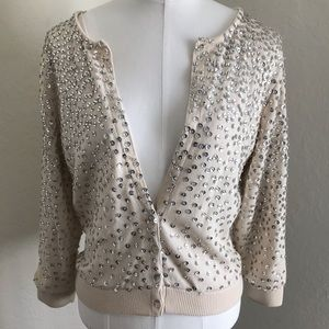 Sequin White House Black Market sweater